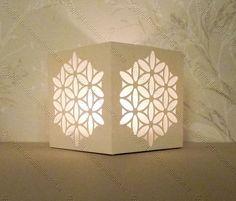 Beautiful Christmas Tea Light Box from Monica's Creative Crafts Room.  She provides the .jpg, studio, .pdf, .dxf, .wpc, .svg, .mtc files