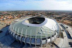 Vista aérea do estádio Arena Castelão, em Fortaleza (CE)