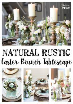 Natural Rustic Easter Brunch Tablescape | blesserhouse.com @worldmarket #sponsored #WorldMarketTribe
