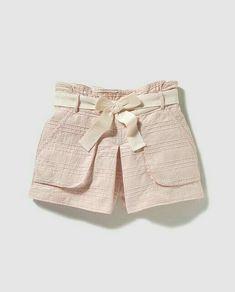 Cute Kids Fashion, Baby Girl Fashion, Short Skirts, Short Dresses, Short Infantil, Short Niña, Baby Dress Patterns, Kids Wear, Toddler Girl