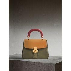 The Medium DK88 Top Handle Bag in Moss Green/ochre Yellow - Women | Burberry