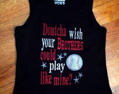 Embroidered Baseball Shirt  for Sister