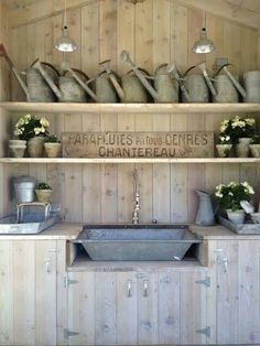 I'm wishing for Santa to bring me a potting bench this christmas. I sure hope he's following me on Pinterest!