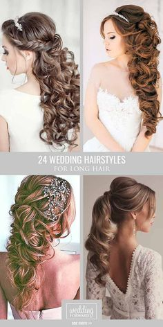24 Bride's Favourite Wedding Hairstyles For Long Hair  From soft layers to half up half down hairstyles there are many possibilities for either a classic modern or rustic look. See more:   #wedding #bride #weddinghairstyle