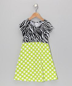 Take a look at this Kiwi Punch Polka Dot Angel-Sleeve Dress - Infant, Toddler & Girls by Bubble & Squeak on #zulily today! type 4 girl