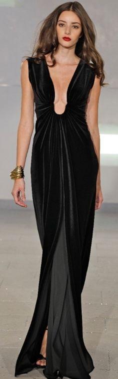 Marc Bouwer black gown
