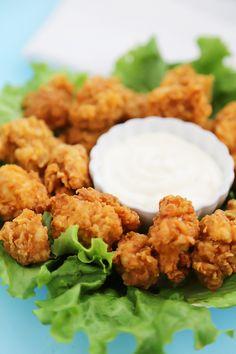 Crispy Buttermilk Popcorn Chicken - Super easy, crispy popcorn chicken ...