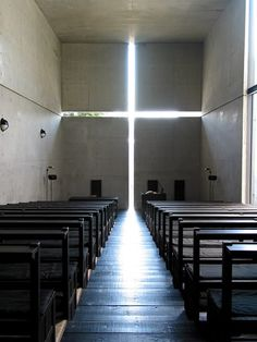 The Church of The Light was built in 1989, in the city of Ibaraki, Osaka. It was designed by Japanese architect Tadao Ando. What's so interesting about this church, is how the architecture itself induces a spiritual experience.