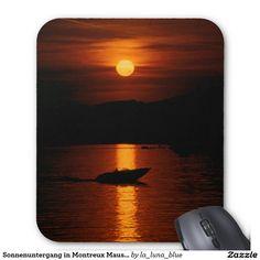 Sonnenuntergang in Montreux Mauspad Computer Mouse, La Luna, Mousepad, Sunset, Simple, Nice Asses, Photo Illustration, Pc Mouse, Mice