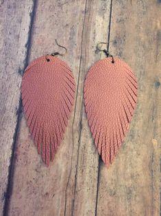Faux Leather EarringsJewelry Feather | Etsy
