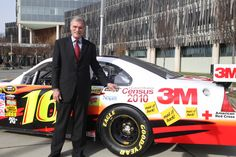 U.S. Census Bureau director Robert Groves stands in front of the No. 16 Ford Fusion the agency sponsored to promote the 2010 Census.  Roush Fenway Racing's Greg Biffle for three NASCAR Sprint Cup Series races  at Atlanta Motor Speedway on Sunday, March 7; Bristol Motor Speedway on Sunday, March 21; and Martinsville Speedway on Sunday, March 28. #CensusHistory Learn more at http://www.census.gov/history/