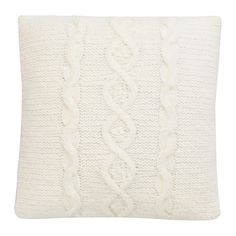 IKEA ISGATA Cushion Knitted/white 40x40 cm This cushion has a decorative knitted pattern on one side and buttons on the other side.
