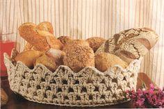 """""""Crochê da Mimi"""": Crochê Endurecido: Cesta para pães!!!"""