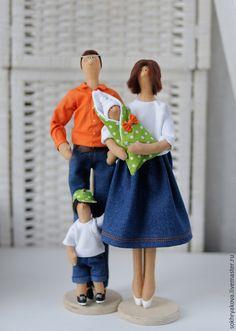 Купить Семья в стиле Тильда. - кукла ручной работы, кукла Тильда, сувенир, семья, любовь ♡