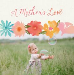 Pink flourishes and beautiful blossoms add an extra-special touch to this Mother's Love family photo book.