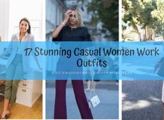 17 Stunning Casual Women Work Outfits Casual Work Outfits, Professional Outfits, Work Attire, Work Casual, Pencil Skirt Casual, Pencil Skirt Outfits, Young Work Outfit, Houndstooth Jacket, Pretty Designs