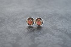 A personal favorite from my Etsy shop https://www.etsy.com/listing/247155684/snow-white-old-hag-stud-earrings-10mm
