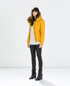 SHORT ANORAK WITH FUR COLLAR-Quilted Coats-Outerwear-WOMAN | ZARA United States