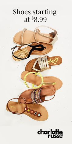 Step up your spring shoe game�beach sandals to heels. Starting at $8.99!