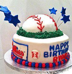 Phillies Pretty Cakes, Cute Cakes, Beautiful Cakes, Amazing Cakes, Baseball Birthday Cakes, Baby Birthday, Birthday Parties, 24th Birthday, Philly Food