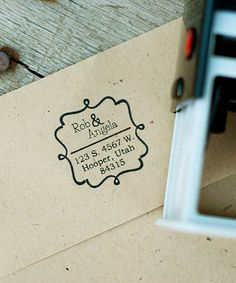 Another great find on #zulily! Curlicue Frame Personalized Address Stamp by Expect Personality #zulilyfinds
