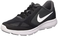b2a3897add29 Nike 819413-001  Revolution 3 (GS) Running Shoe Dark Grey White Black KIDs  (Dark Grey White-black-pure Platinum