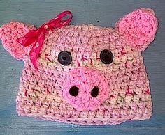 Piggy photoprop hat
