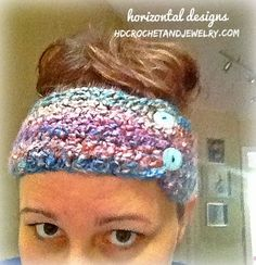 "Fast FREE easy crochet patten!! Canyon Sunrise Ear-warmer / head band: Use Lion Homespun ""painted desert"" yarn (just like in the new Canyon Sunrise Slouchy and Cowl!) and a pointy 6.5mm hook. Ch 57, hdc in 3rd ch, and across (55). Repeat for 8 rows total, with a ch 2 and turn at the end of each row.  Fun more patterns at www.hdcrochetandjewelry.com"