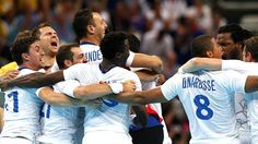 France celebrate handball gold at the London Olympics (Reuters)