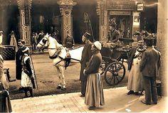 صورة لاحد شوارع القاهره الجميلة عام 1900 م تقريبا
