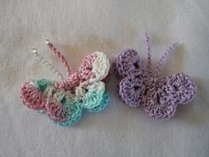 Little Crochet Butterfly-free pattern by Penny Perbody. A smaller version of my favourite butterfly motif.