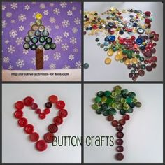 cute button crafts for kids