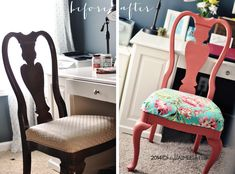 Chalk It Up To Chairs: Refinishing & Recovering