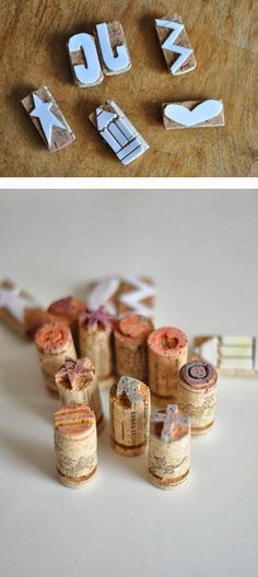 Become creative with wine cork:) Diy And Crafts, Crafts For Kids, Arts And Crafts, Paper Crafts, 4 Kids, Diy Art, How To Draw Hands, Place Card Holders, Homemade