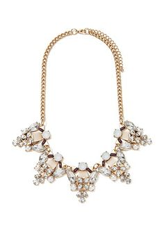 Faux Pearl Statement Necklace   Forever 21 - 1000146136