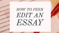 Everyone needs an editor, even the most successful authors, journalists, and scholars. Likewise, peer editing is an essential part of the process for student writers who want to improve and succeed. Education English, Elementary Education, Editing Checklist, Math Word Problems, Editing Writing, Education Quotes For Teachers, Teacher Humor, Parenting Quotes, Educational Technology