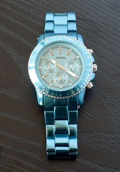 Loving this teal Fossil watch