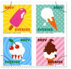 Swedish Summer Stamps 2011, designed by Fellow Designers – Eva Liljefors och Paul Kühlhorn.