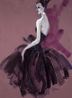 First Look: The W Exhibits Fashion Illustrations by F.I.T. Faculty