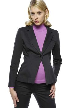 L'Avenue des Bebes Single Breasted Sateen Maternity Suit Jacket - Black
