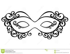 Illustration about Beautiful Masquerade Mask (Vector), Patterned design. Illustration of monochrome, masquerade, mask - 34573198 Masquerade Mask Template, Masquerade Party, Masquerade Masks, Mascarade Mask, Mascarade Wedding, Mask Drawing, Lace Mask, Venetian Masks, Halloween Outfits