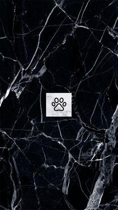 black marble. marble. paw print logo. instagram highlights Instagram Symbols, Instagram Logo, Instagram Story, Black Highlights, Story Highlights, Paw Print Background, Black And White Instagram, Vsco Themes, Black Marble