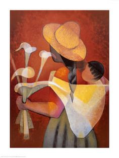 Mother and Child - Louis Toffoli Art And Illustration, Mexican Paintings, Mexico Art, Painting People, Painting Gallery, Art Abstrait, Mother And Child, African Art, Female Art