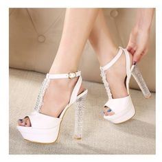 2016 sexy wedding shoes 16cm red bottom high heels shoes ankle ...