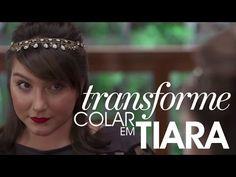 Transforme o seu colar em tiara