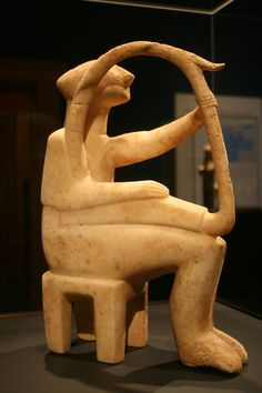 The Harp Player ,Early Cycladic, 2700-2300 BC, Marble, The Getty Villa, Malibu, California56