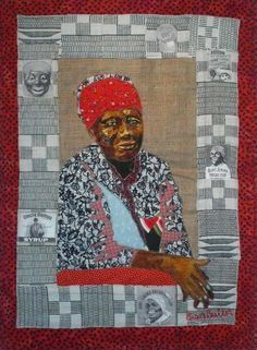 Bisa Butler - lovely art quilt and fantastic border!