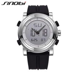 New SINOBI Brand Sport Watches For Men Waterproof Silicone Male Clock Digital Watch Men LED 2016 Luxury Watch Men Black Military - Watchesfixx