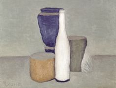 "A still-life painting by Giorgio Morandi. Peter Schjeldahl sums up the still-life paintings of Giorgio Morandi (1890-1964), now on view at the Met, as ""unbeatably radical meditations on what can and can't happen when three dimensions are transposed into two."""