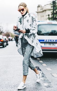 Olivia Palermo, queen of matchy-matchy prints.
